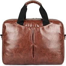 "Secretariat 15.6"" Laptop Briefcase | Synthetic Laptop Bag | Business Messenger Bag | Office Bag-Rust Brown"