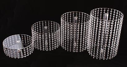 Acryl plexiglas taartstandaard rond bruiloft 4 etages etagère verjaardag aluminium Ø 28 cm