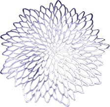 12 Pack Silver Metallic Round Placemats Laminated Vinyl Leaf Dining Table Decorative By Snowkingdom