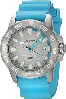 90c611e8 Nautica Reloj Analógico para Hombre de Cuarzo con Correa en Silicona  0656086076325