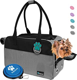 PetAmi Airline Approved Dog Purse Carrier   Soft-Sided Pet Carrier for Small Dog, Cat, Puppy, Kitten   Portable Stylish Pet Travel Handbag   Ventilated Breathable Mesh, Sherpa Bed