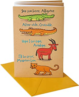 American Greetings Funny Goodbye Card (Animals, Congratulations)