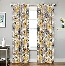 لوحة ستائر نافذة الحمام الشهيرة، مجموعة صن شاين، 137.16 سم × 160.04 سم، أصفر