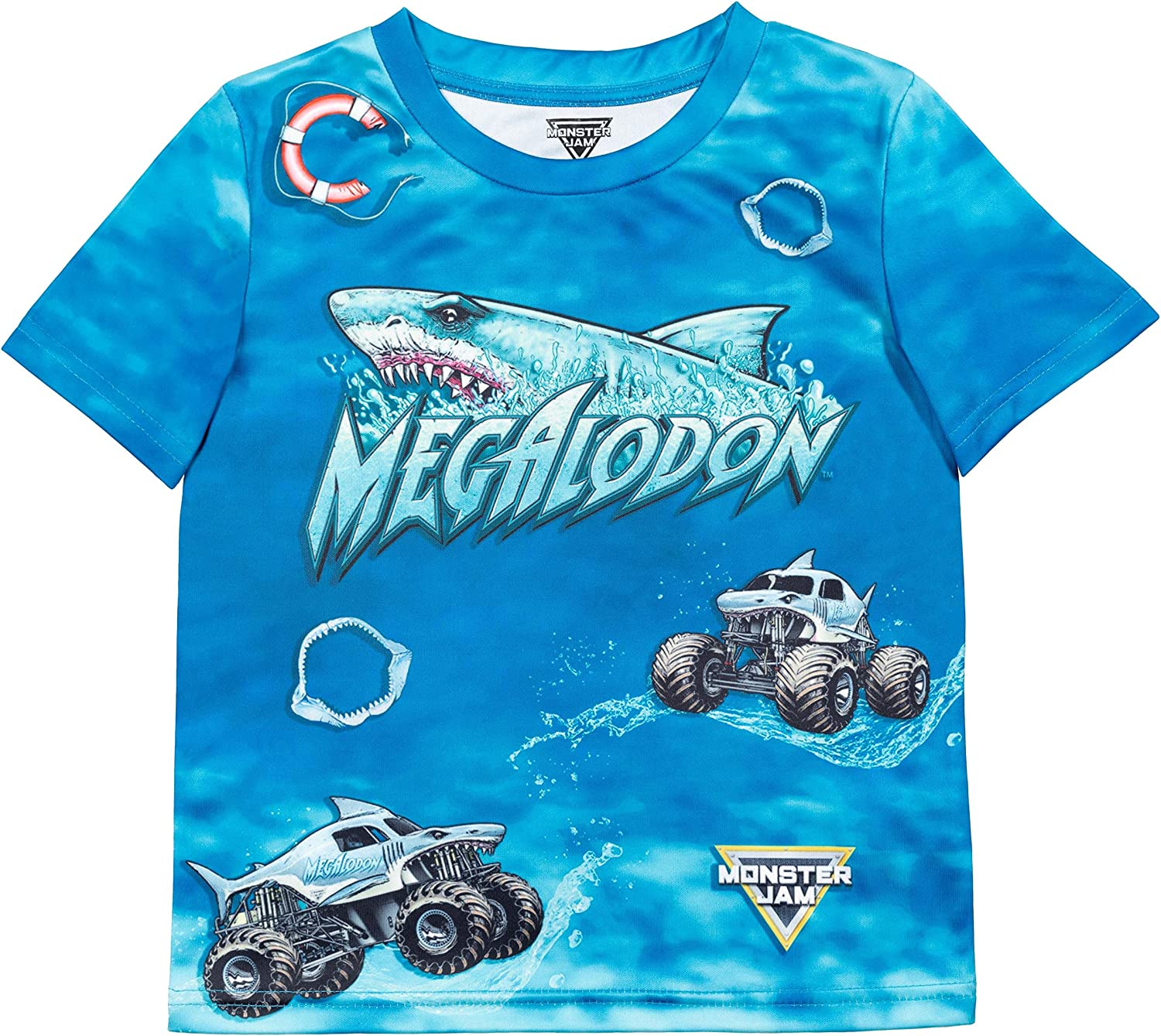 Monster Max 62% OFF Challenge the lowest price of Japan ☆ Jam Trucks Boys Graphic T-Shirt: Grave Digger Megalodon