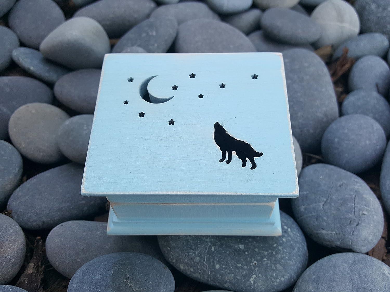 Music box custom made music m Tulsa Mall howling the Ultra-Cheap Deals moon wolf