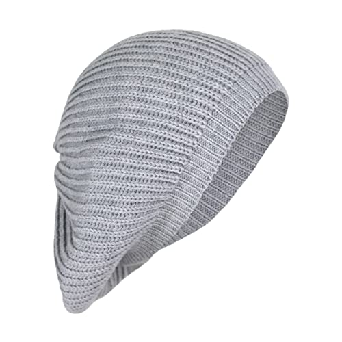 Cute Boho Cable Ribbed Knit Slouch Beret Cap- Chic Slouchy 4c466d90ec3