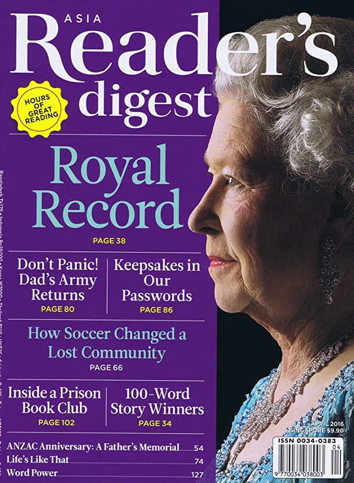 計算する合併症倫理的Reader's Digest Asia English Edition [HK] April 2016 (単号)