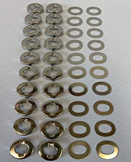 Common Sense Fastener Eyelet Portion Only w/ Backing Plate, 20 Pc.