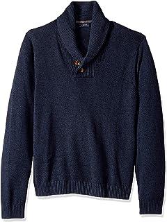 IZOD Men's Newport 7g Marled Shawl Sweater
