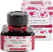 Herbin Scented Ink - 30ml Bottled - Red/Rose
