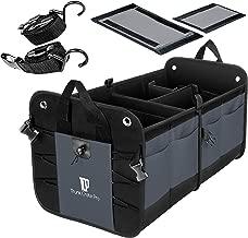 TRUNKCRATEPRO Premium Multi Compartments Collapsible Portable Trunk Organizer for Car, Auto, SUV, Truck, Minivan (Charcoal. Gray) New Version
