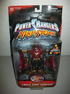 Power Rangers Ninja Storm 2003 Crimson Thunder Triple Zord Morphin' action figure MOSC MOC
