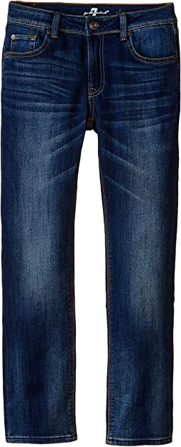 7 For All Mankind Kids Slim Straight Jeans in Heritage Blue (Little Kids/Big Kids)