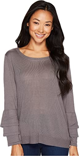 B Collection by Bobeau - Cora Ruffle Sleeve Sweater