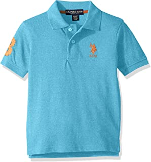 Boys' Short Sleeve Marled Pique Polo Shirt