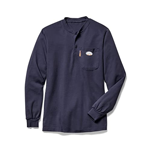 88df904c762a Rasco FR Navy Henley T-Shirt 100% Preshrunk Cotton NFPA 2112