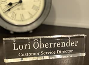 Personalized Desk Office Acrylic Name Plate - Choose 8