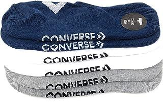 Calcetines para hombre (3 unidades, mitad acolchados, ultra bajos, no se presentan, hechos para chucks, talla 6 – 12)