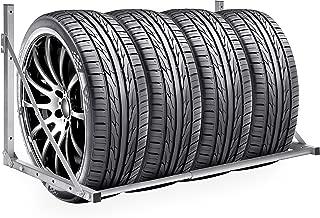 Best Choice Products Heavy Duty Steel Garage Wall Mount Folding Tire Wheel Storage Rack