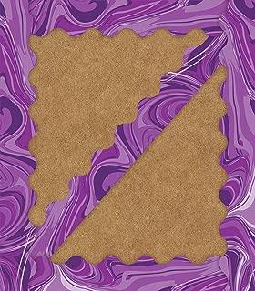 Purple Marble Scalloped Borders