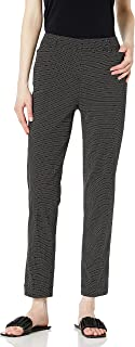 SLIM-SATION womens Pull On Print Ankle Pant With Real Front Pockets Pants
