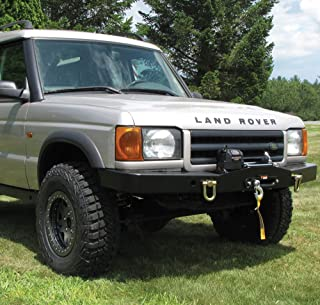 Land Rover DA5645 Heavy-Duty Front Steel Bumper with Winch Mount for Discovery 2