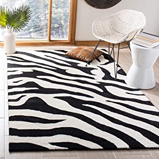 Safavieh Soho Collection SOH717A Handmade White and Black Premium Wool Area Rug (8'3