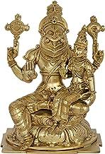 Lord Narasimha with Goddess Lakshmi - Bronze Statue