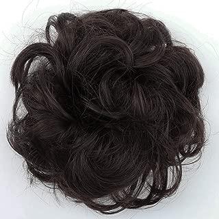 PRETTYSHOP Scrunchie Scrunchy Bun Up Do Hair piece Hair Ribbon Ponytail Extensions Wavy Curly or Messy dark brown chocolate 6