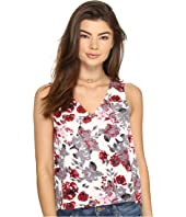 kensie - Antique Floral V-Neck Top KS2U4022