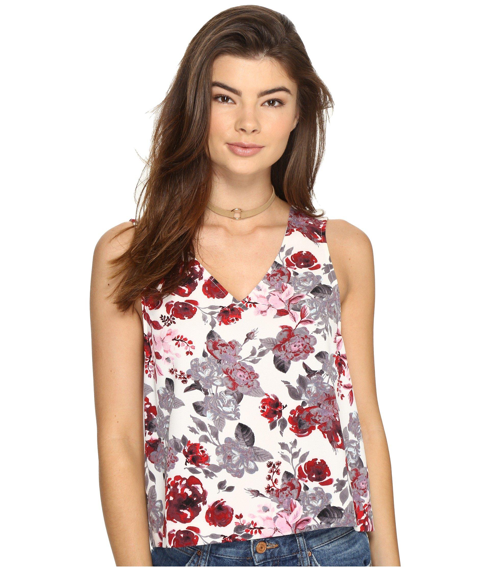 Blusa para Mujer kensie Antique Floral V-Neck Top KS2U4022  + kensie en VeoyCompro.net