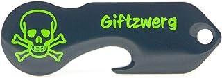 """Code24 Einkaufswagenlöser """"GIFTZWERG""""   Praktischer Einkaufschip Schlüsselanhänger mit Totenkopf Motiv & Schlüsselfinder Anhänger, inkl. Registriercode für Schlüsselfundservice, Key Finder"""