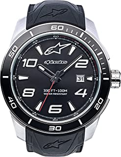 Tech Watch, Men's Analog 45 MM Stainless Steel case, 100 Meters Water Resistant, Japanese Quartz Movement, Integrated Silicone Wristband