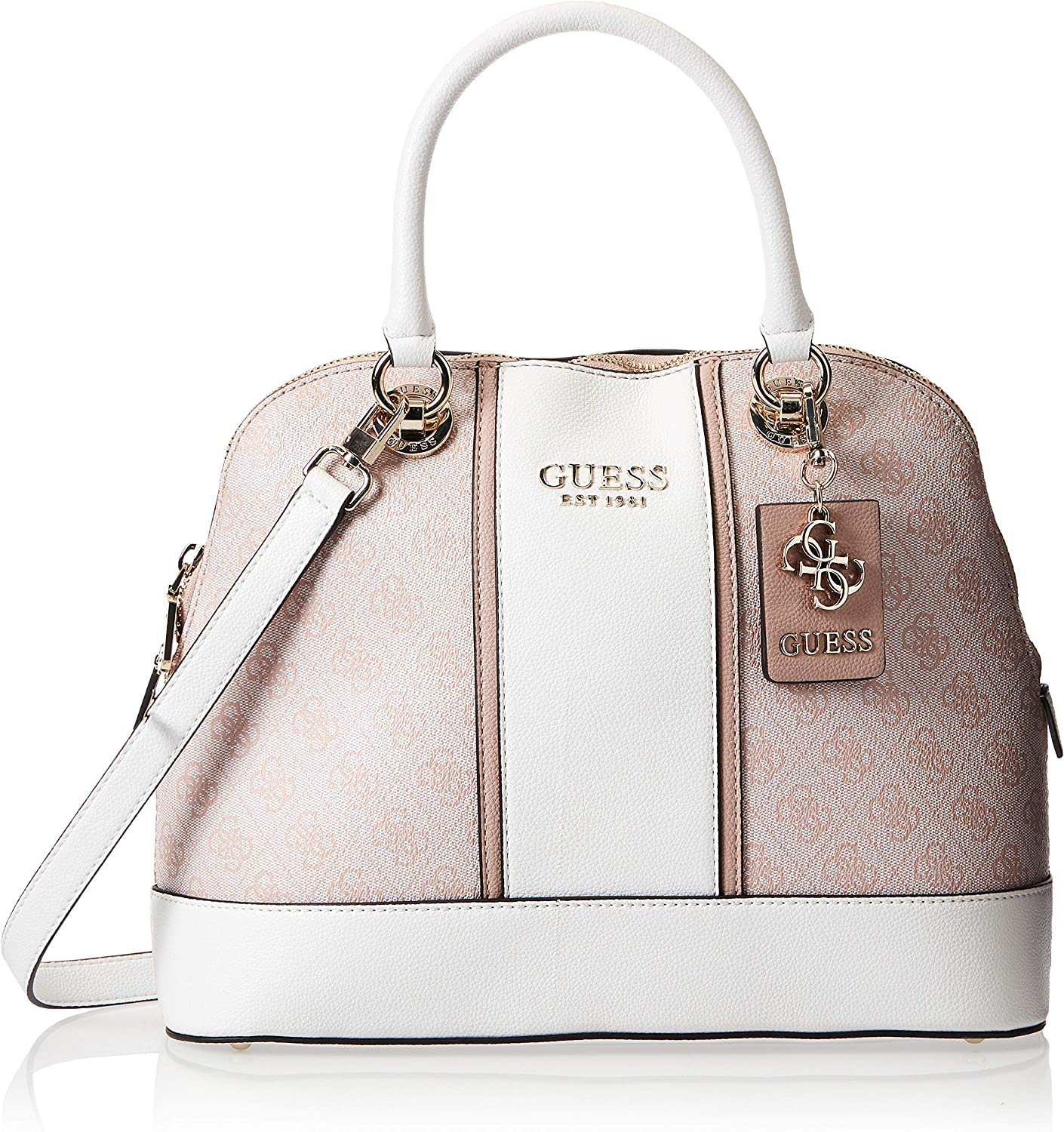 Our shop most popular GUESS CATHLEEN Large BLUSH Dome Product Satchel