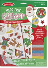 Melissa & Doug Mess-Free Glitter Christmas Stickers - 26 Foam Stickers, 8 Glitter Sheets