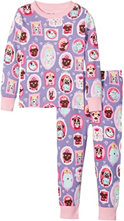 Hatley Kids - Pups Portraits Long Sleeve Pajama Set (Toddler/Little Kids/Big Kids)