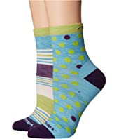 Dot and Stripe Crew Light Socks (Toddler/Little Kid/Big Kid)