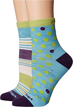 Darn Tough Vermont Dot and Stripe Crew Light Socks (Toddler/Little Kid/Big Kid)