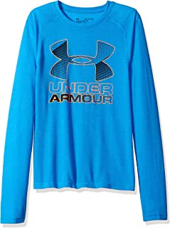 Under Armour Boys' Hybrid Big Logo Long Sleeve t