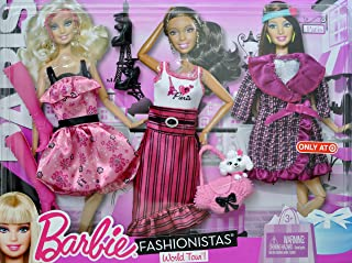 Barbie Travel Fashion Clothes and Accessories - Paris - with Paris Fashions and Poodle