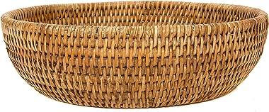Artifacts Rattan Rattan Everything Bowl (White Wash)