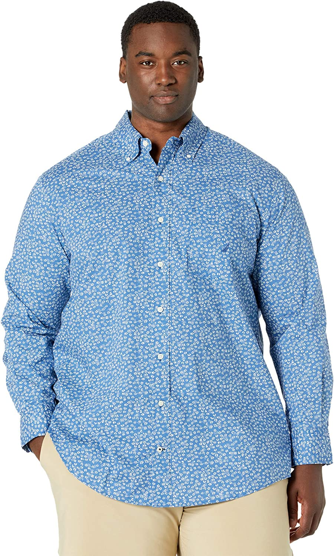 Nautica Big & Tall Classic Fit Floral Print Shirt