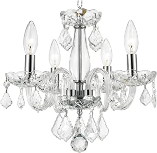 Worldwide Lighting W83100C16-CL Clarion Collection 4 Light Chrome Finish and Clear Crystal 16