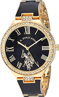 U.S. Polo Assn. USC40320 Women's Quartz Watch, Analog Display and Stainless Steel Strap