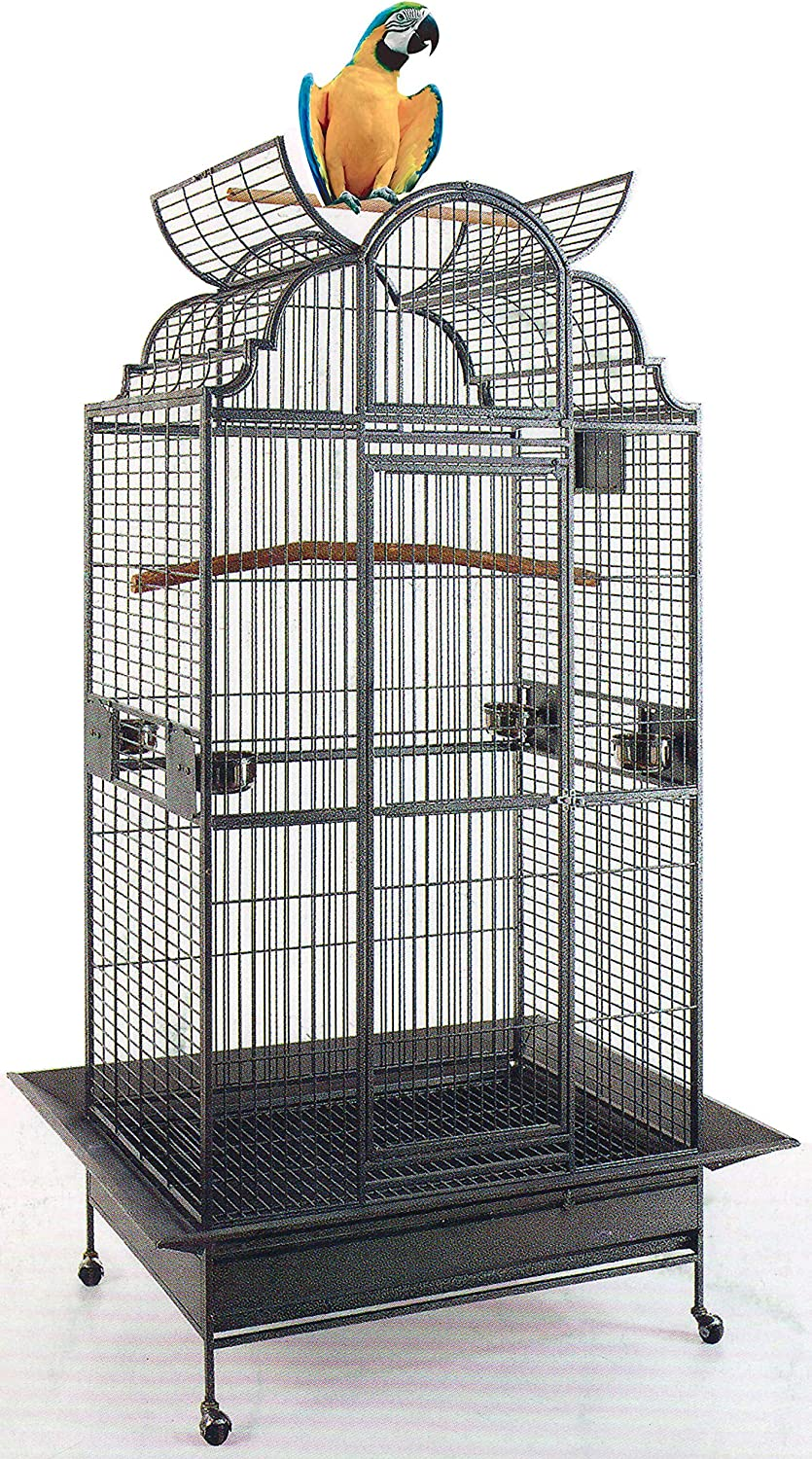 New Large Elegant Wrought Iron Special sale item Dome I Cage Bird Parrot Top Play Popular brand