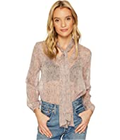 Austell Tie Front Printed Top