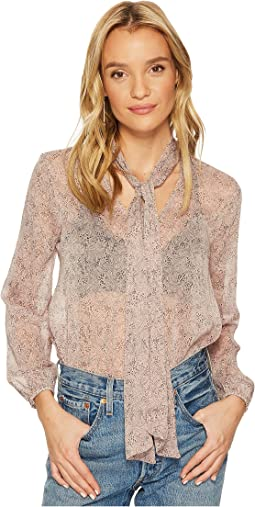 BB Dakota - Austell Tie Front Printed Top