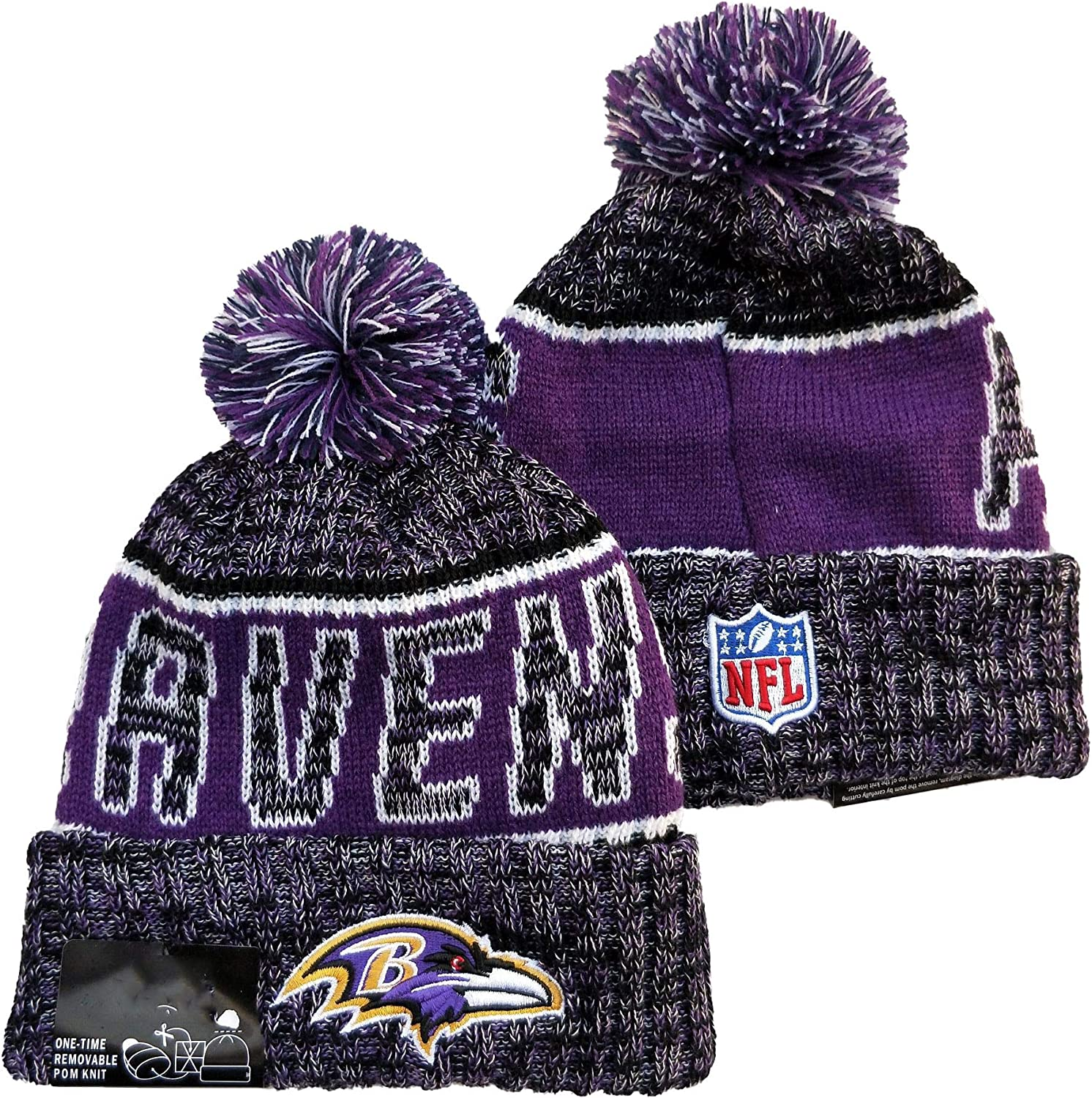 Winter Knit Beanies Fans Hats Sports Team Outdoor Fashion Caps Wool Knit for Gift Pack of 1 Hat