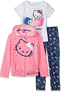 481ef9eb9 Hello Kitty Baby Girls 3 Piece Zip Up Hoodie Legging Set with T-Shirt