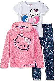Hello Kitty Baby Girls 3 Piece Zip Up Hoodie Legging Set with T-Shirt